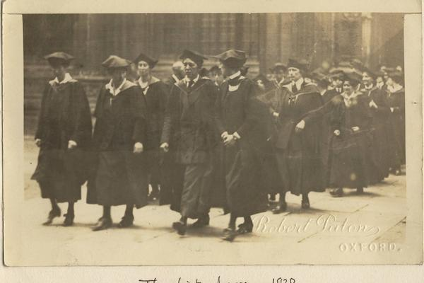 degree students 1920 h deneke memoir