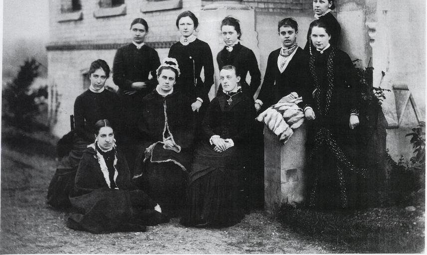 First student group photograph,1879. Copyright @LMH
